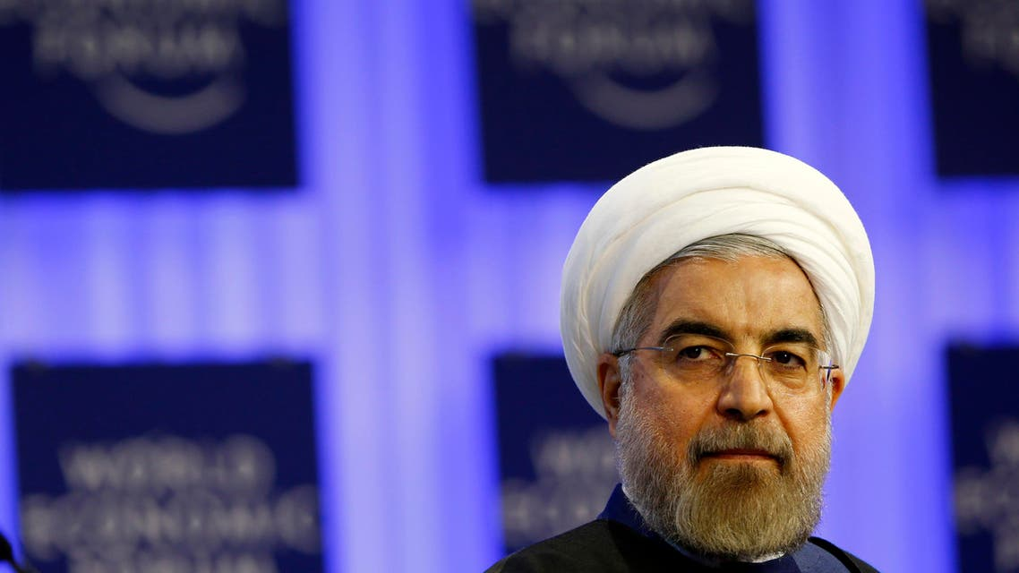 Iran's President Hassan Rowhani attends a session at the World Economic Forum in Davos. (Reuters)