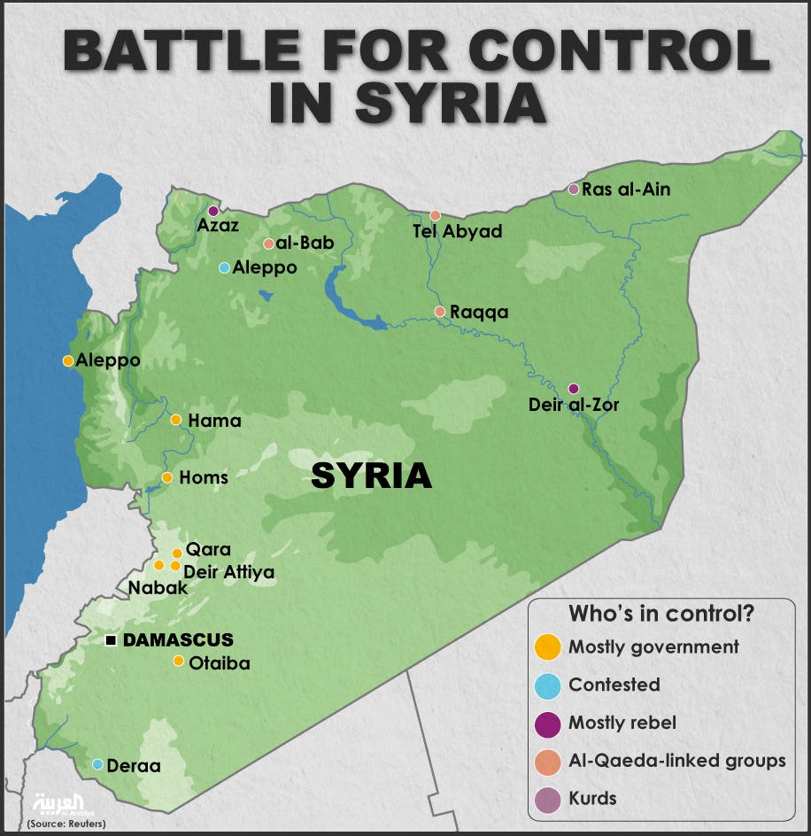 Infographic: Battle for control in Syria