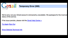 Google's Gmail down for users around the world