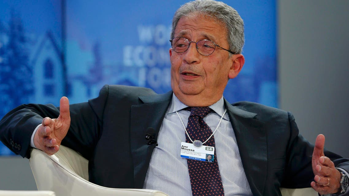 Amr Moussa, former Secretary-General of the League of Arab States (2001-2011), attends a session at the annual meeting of the World Economic Forum (WEF) in Davos Jan. 24, 2014. (Reuters)