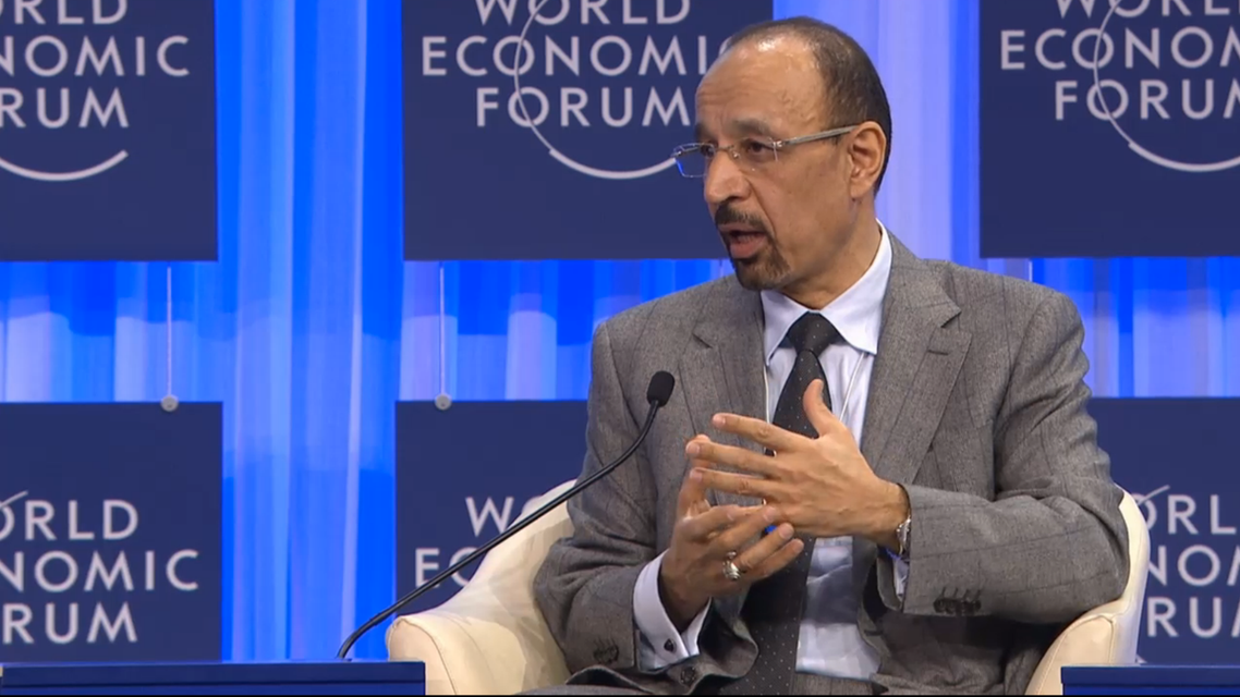 Khalid al-Falih says there is a 'mismatch' between unemployment and the lack of qualified workers. (Image courtesy: World Economic Forum)