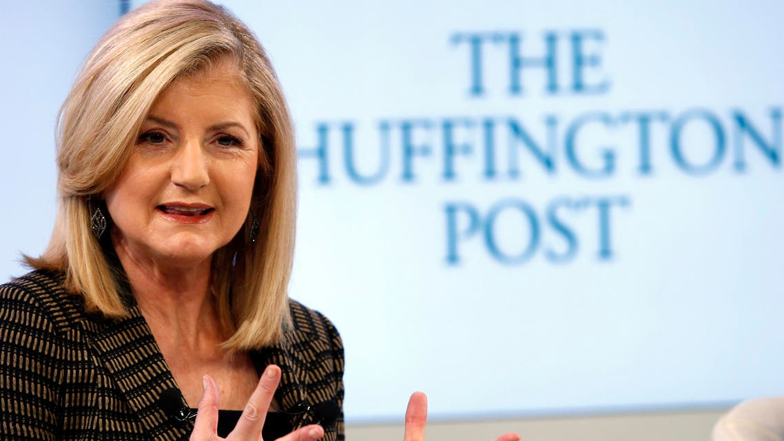 Arianna Huffington, president and Editor-in-Chief of The Huffington Post Media Group attends a session at the World Economic Forum (WEF) in Davos January 25, 2014.