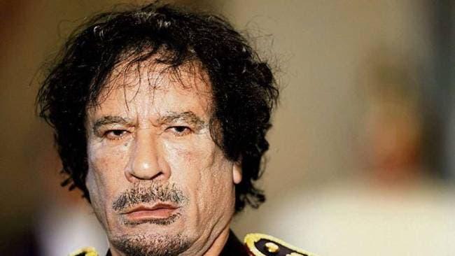 معزول لیبی صدر معمر قذافی