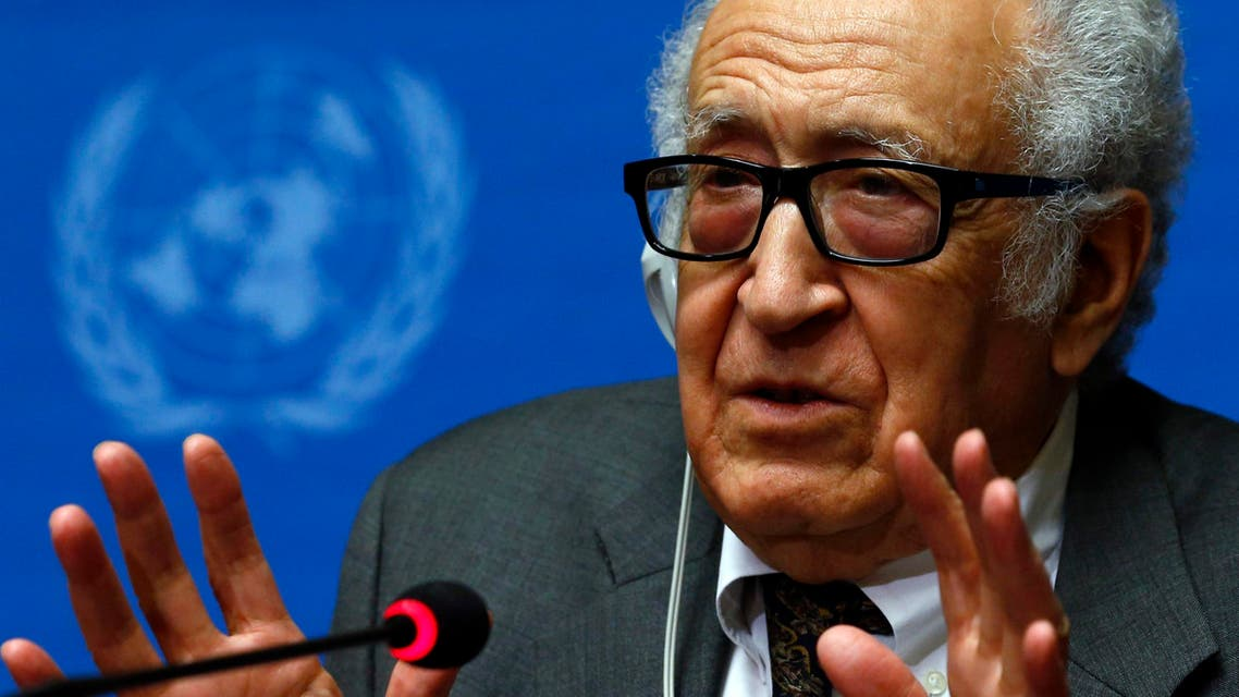 U.N.-Arab League envoy for Syria Lakhdar Brahimi addresses a news conference at the United Nations European headquarters in Geneva January 28, 2014. (Reuters)