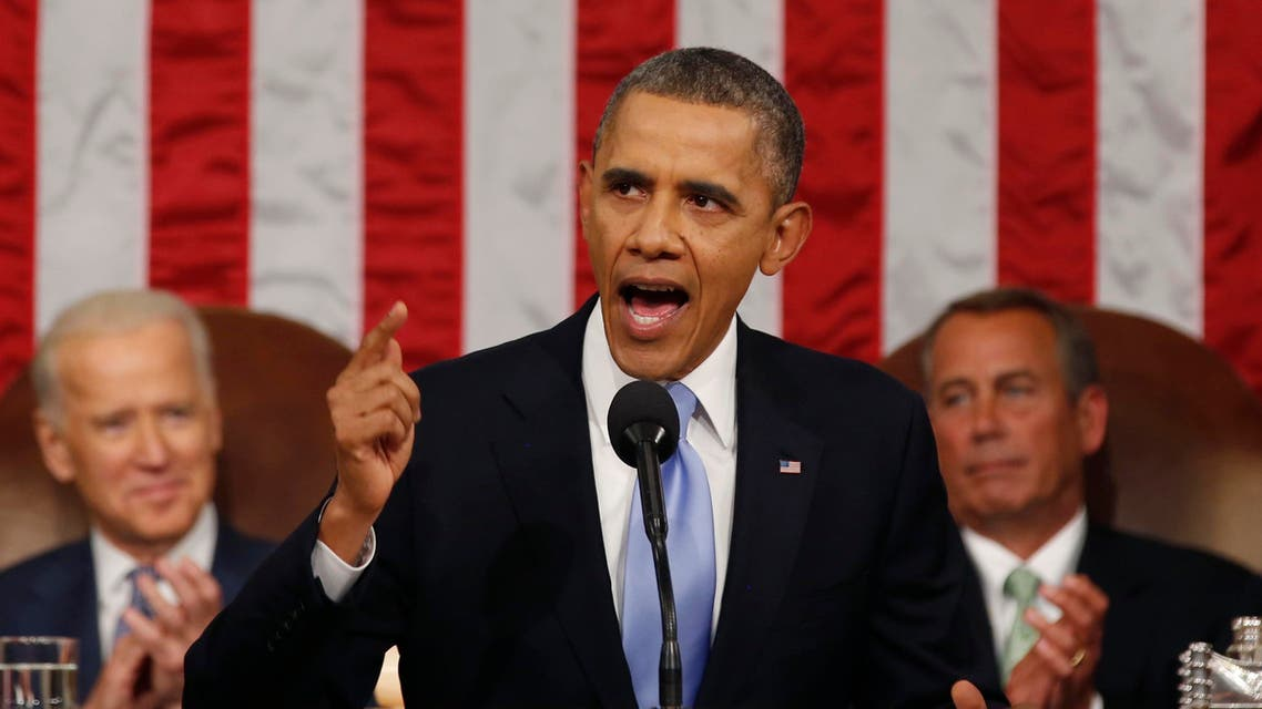 U.S. President Barack Obama delivers his State of the Union speech on Capitol Hill in Washington, January 28, 2014. (Reuters)