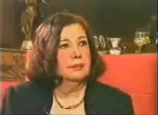 A still from interview Narriman gave later in life about her marriage to Farouk. 'What about Narriman?' she said. (Youtube grab)