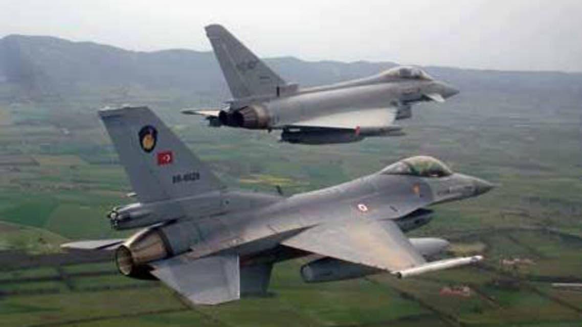 طائرات اف 16 التركية