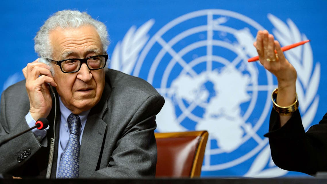 UN-Arab League envoy for Syria Lakhdar Brahimi attends a press briefing on peace talks at the United Nations headquarters on January 29, 2014 in Geneva.