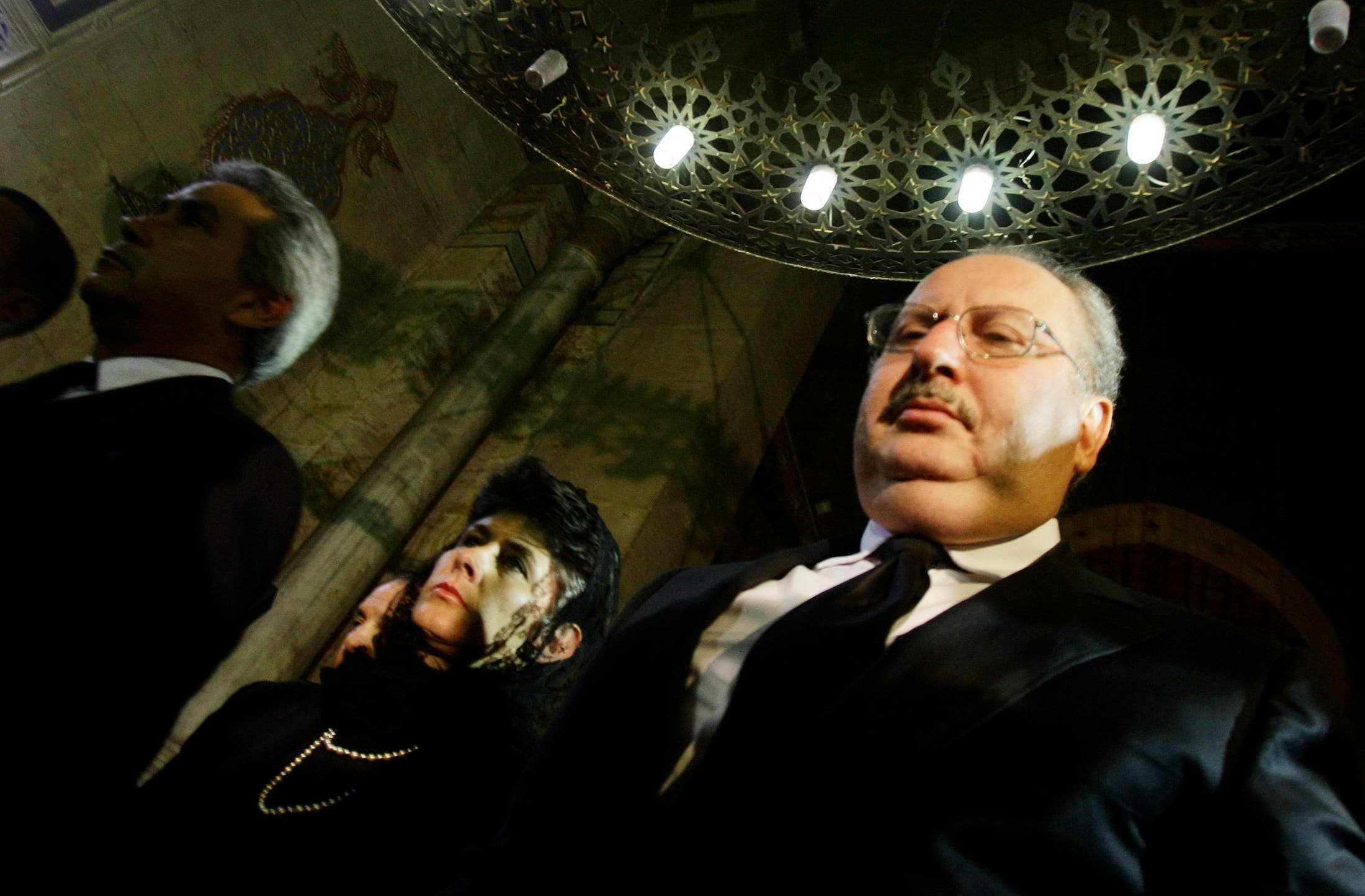 Former Egyptian King Fuad, Farouk's son with Narriman Sadek, attends the funeral of his half-sister, Ferial, in 2009 (File photo: Reuters)