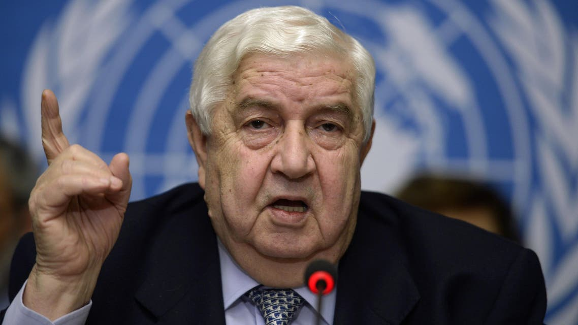 Syria's Foreign Minister and head of the Syrian government delegation Walid Muallem told reporters in Geneva that talks with the opposition achieved no tangible results. (AFP)