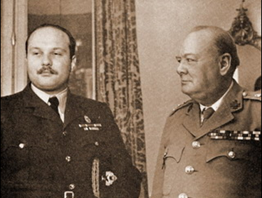 Farouk, pictured here in the 1940's with Winston Churchill (Photo courtesy of Magda Malek egyptianroyalty.net)