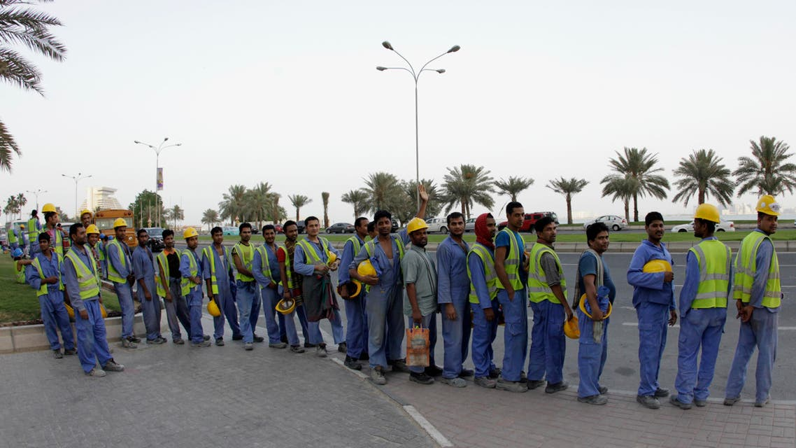 doha labor workers reuters