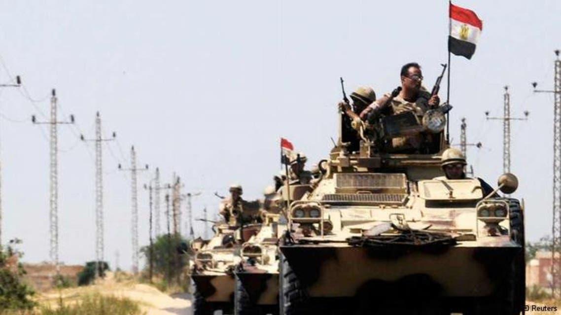 الجيش المصري في الشيخ زويد