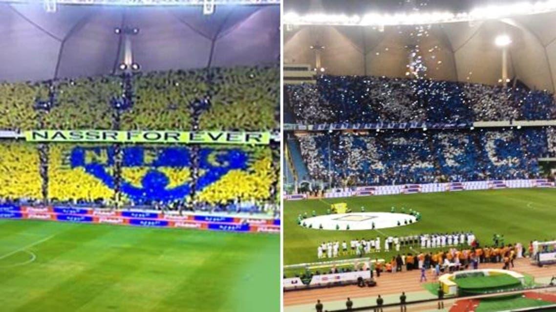 جماهير النصر والهلال في نهائي كأس ولي العهد السعودي
