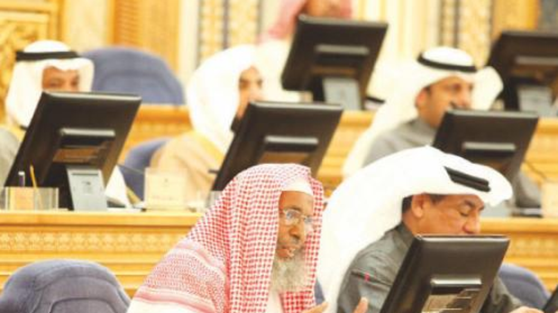 Members of the Shoura Council debate key issues at its session in Riyadh on Monday. (Photo courtesy: SPA)