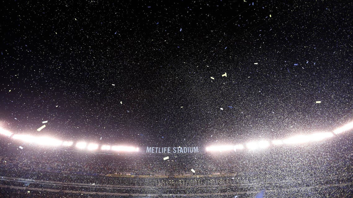 Confetti floats in the air during post game celebrations as the Seattle Seahawks defeated the Denver Broncos in the NFL Super Bowl XLVIII football game. (Reuters)