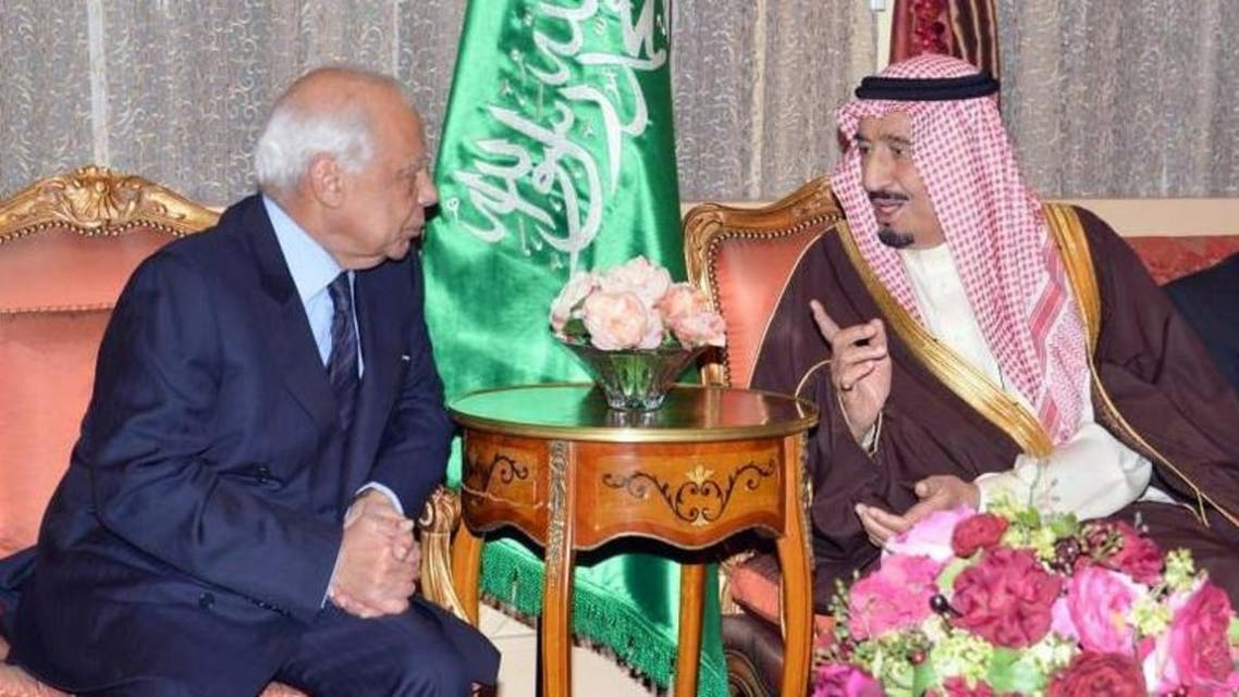 Saudi Crown Prince Salman bin Abdulaziz met interim Egyptian prime minister Hazem al-Beblawi Tuesday to discuss closer cooperation. (SPA)
