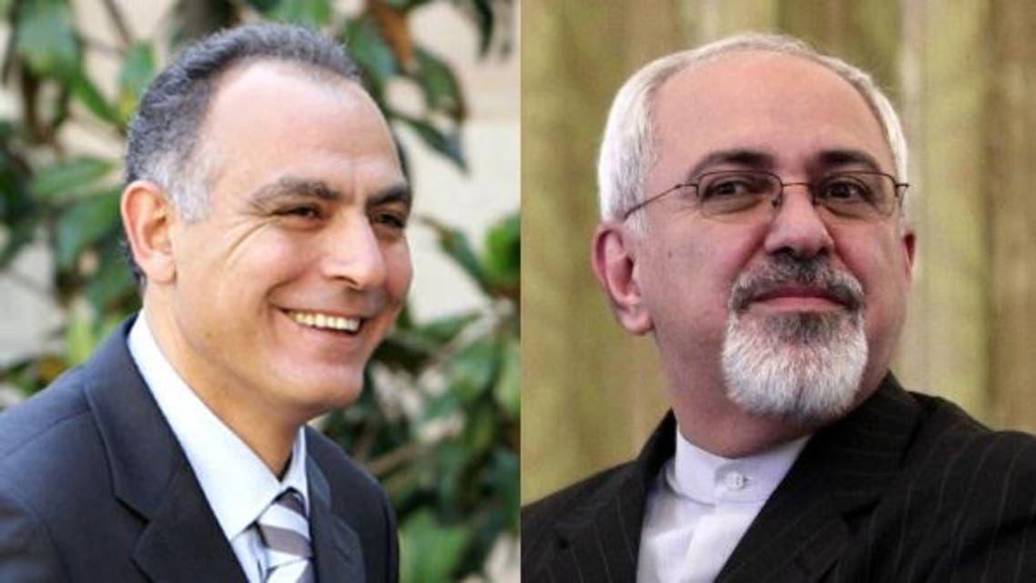 وزير خارجية إيران محمد جواد ظريف ووزير خارجية المغرب صلاح الدين مزوار