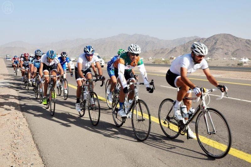 انطلاق سباق الدراجات الهوائية في المدينة المنورة