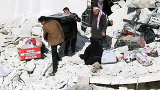 براميل الأسد تنهمر على حلب