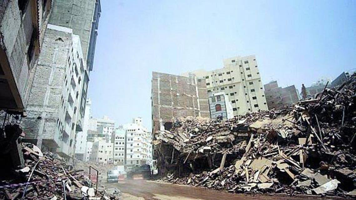 إزالة المساكن العشوائية لبناء الطريق الموازي