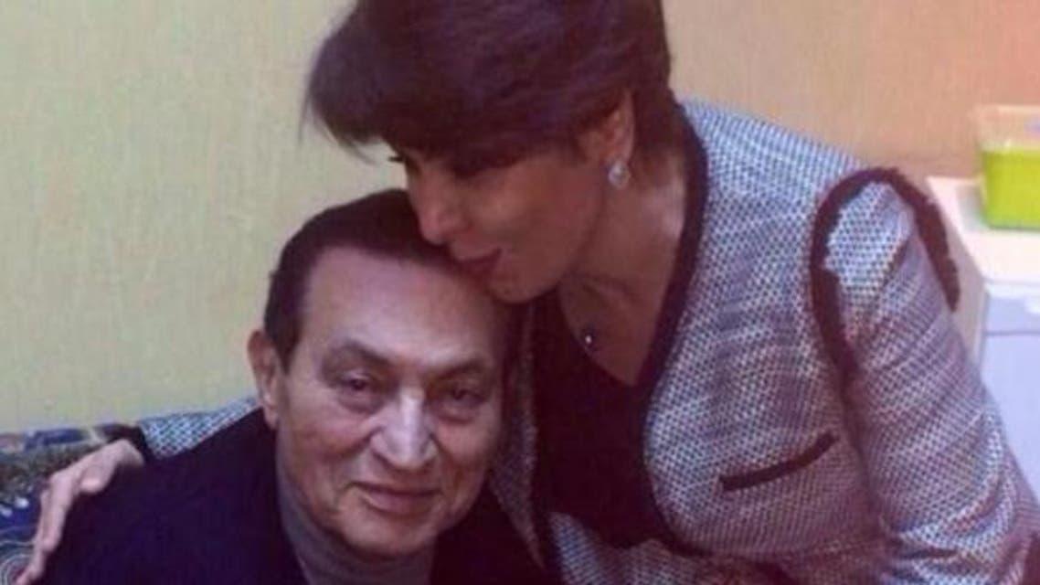 حسنی مبارک با خبرنگار زن کویتی