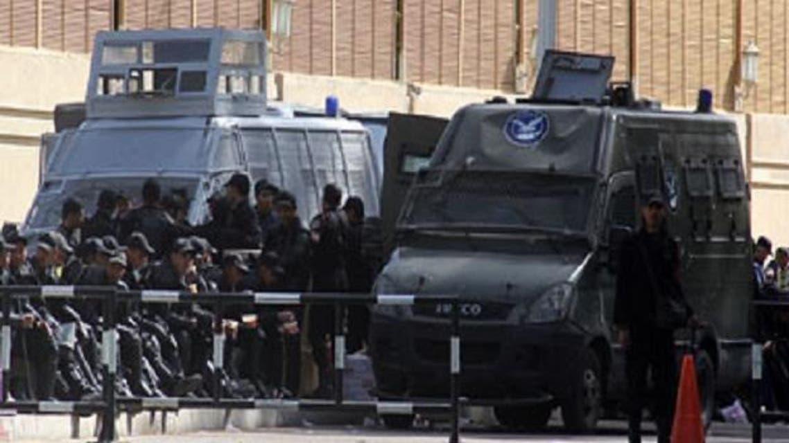 سيارات الأمن المركزي المصري