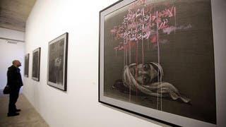 مأساة سوريا بريشة يوسف عبدلكي بمعرض فني في بيروت