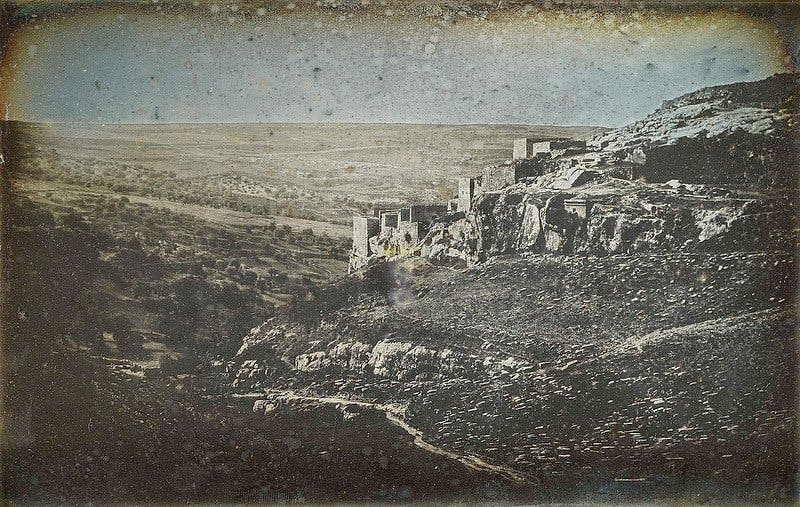 The first-ever known photographs of Jerusalem were taken in 1844 by a French photographer. (Photo courtesy: Smithsonian)