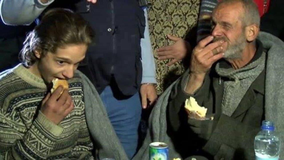 الخارجين من حصار حمص والجوع