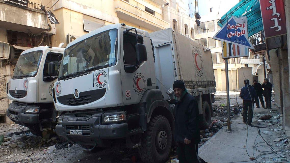 Syrians flee Homs