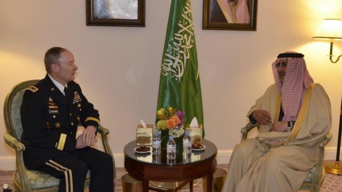 وزير الداخلية السعودية خلال اللقاء