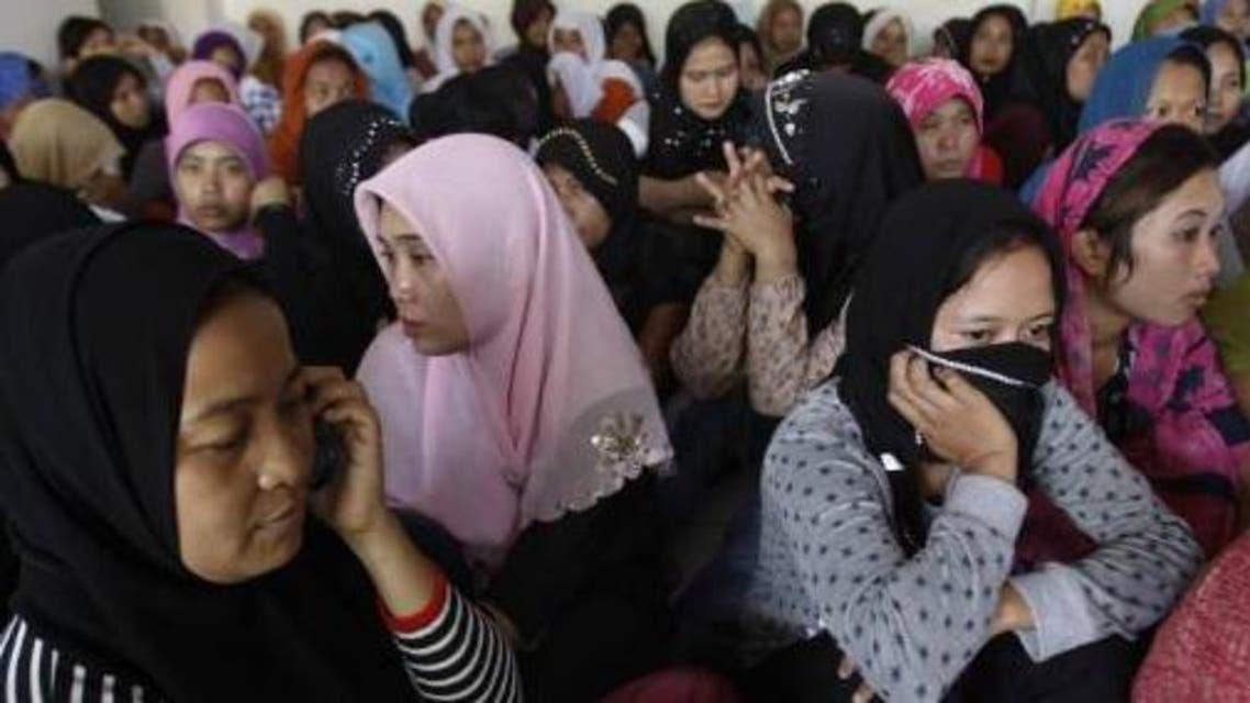 خادمات من اندونيسيا في مطار الرياض