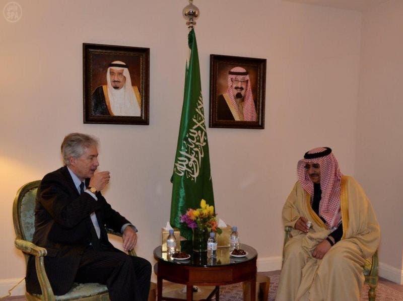 الأمير محمد بن نايف خلال لقائه نائب وزير الخارجية الأميركي