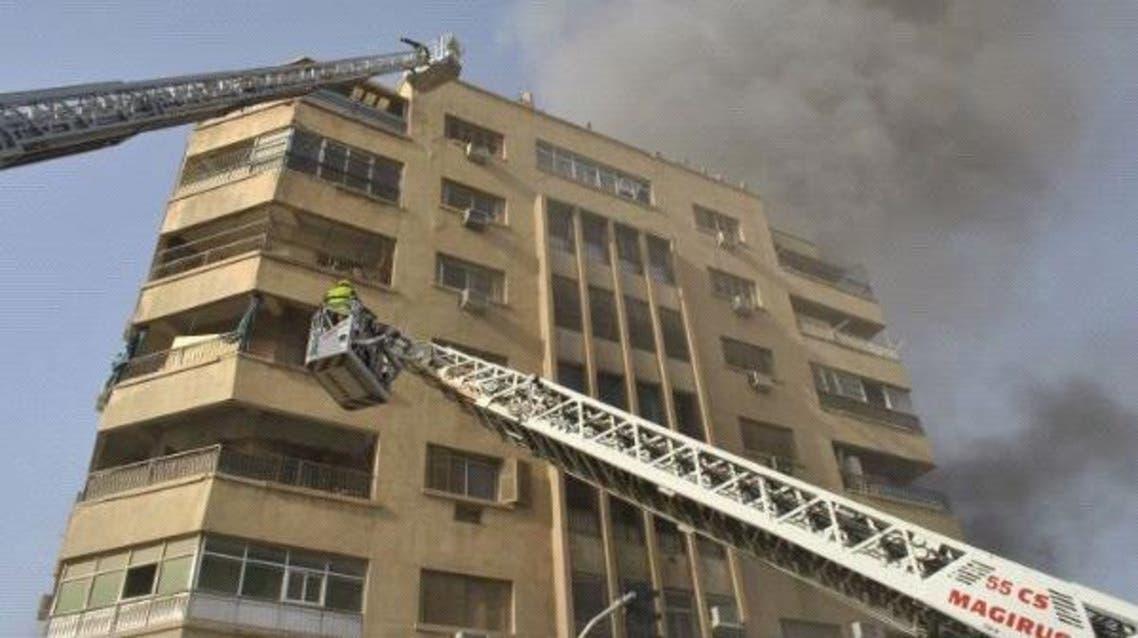 حريق يندلع في وسط الرياض يتسبب بخسائر مادية