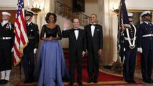 Michelle Obama's gown for Hollande visit gets French twist