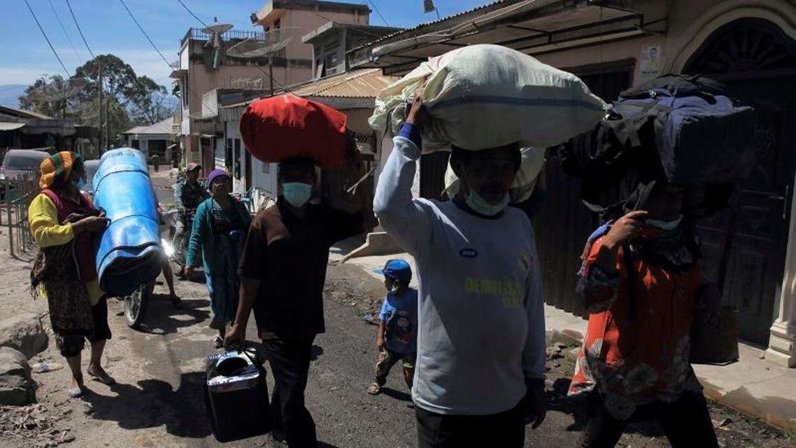 Indonesians return home after volcanic eruption