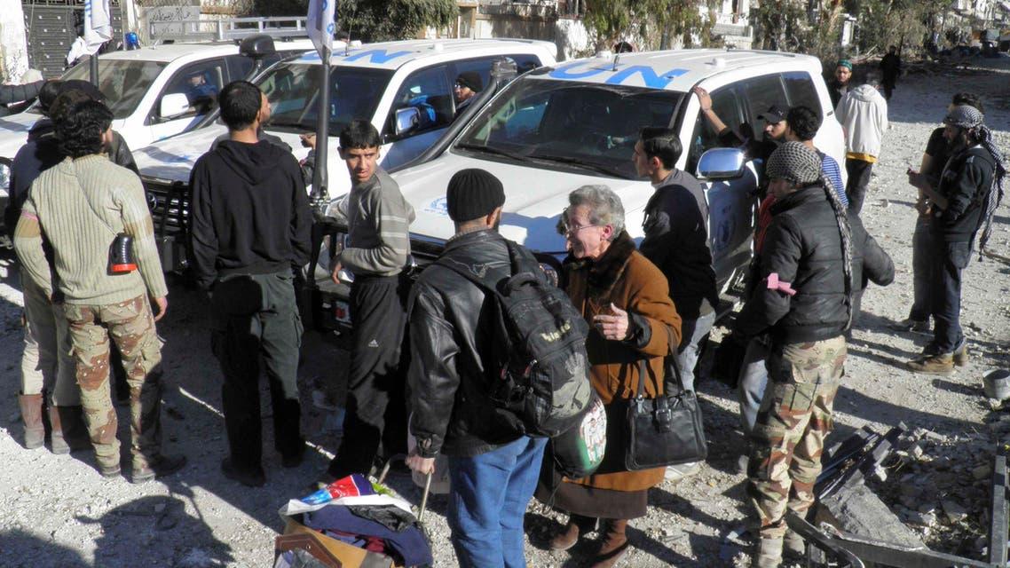 إجلاء المدنيين من حمص