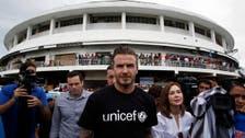 David Beckham brings joy to typhoon-devastated Philippine city