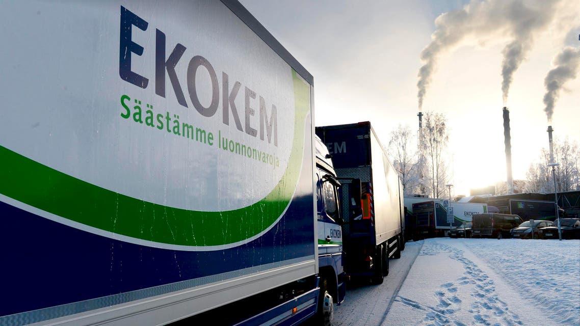 Trucks enter Ekokem AB's hazardous waste treatment plant in Riihimaki, Jan. 23, 2014. (Reuters)