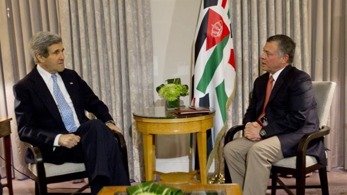 العاهل الأردني وجون كيري