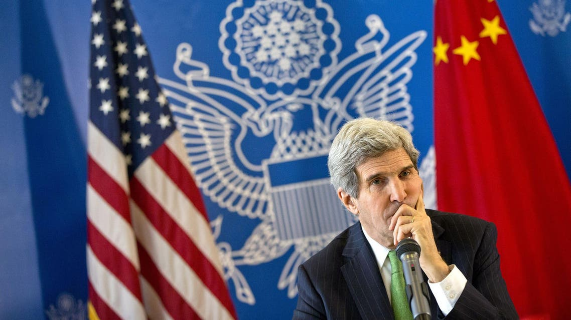 US Secretary of State John Kerry listens to a question during a discussion with Chinese bloggers on a number of issues, including internet freedom, Chinese territorial disputes with Japan, North Korea, and human rights, in Beijing on February 15, 2014. afp