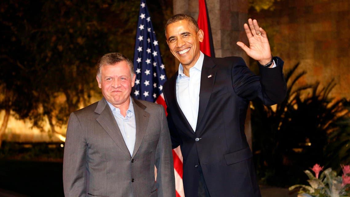 .S. President Barack Obama (R) meets with Jordan's King Abdullah at Sunnylands in Rancho Mirage, California February 14, 2014. (Reuters)