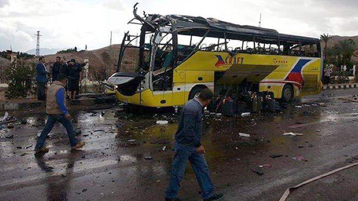 قتلى وجرحى في انفجار حافلة قرب الحدود المصرية مع إسرائيل