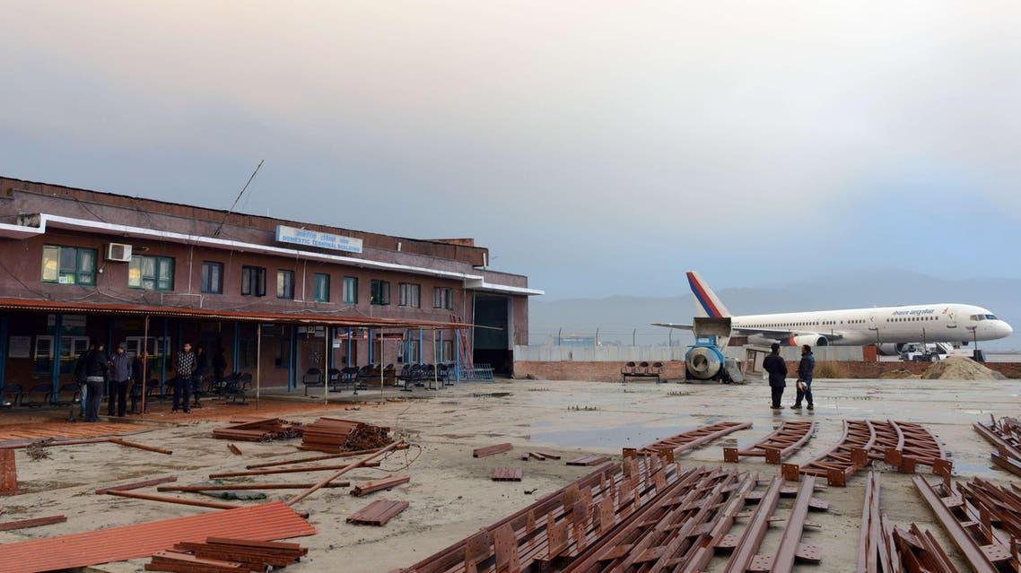 سقوط طائرة في نيبال