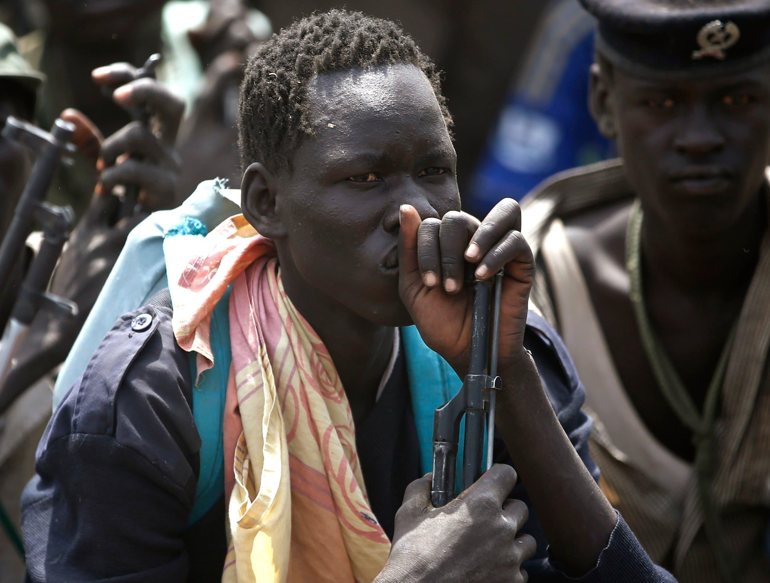South Sudan rebel fighters