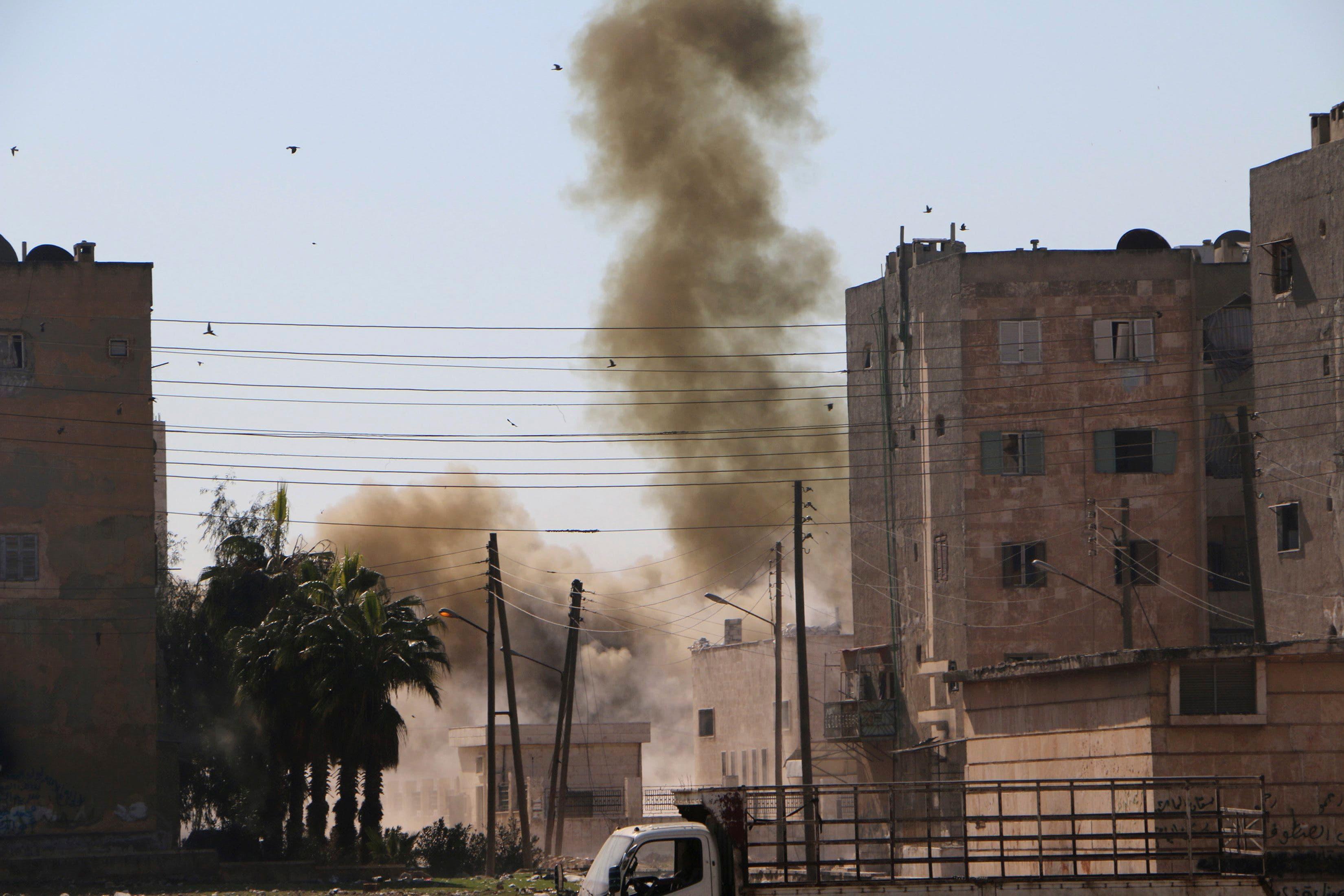 Bombs strike Syria's Aleppo