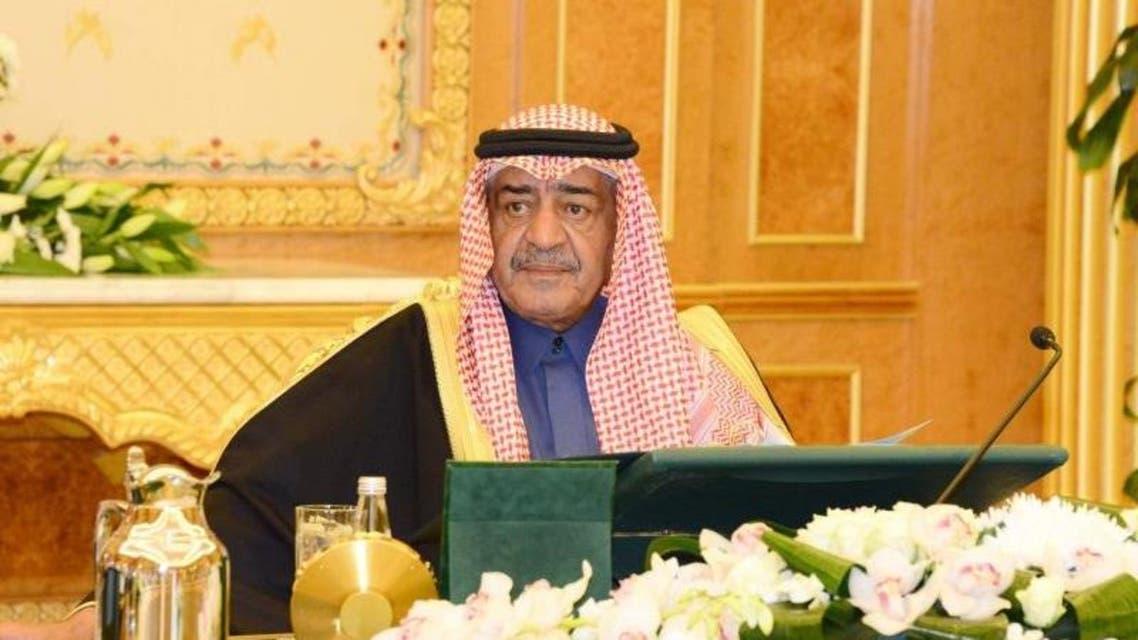 الأمير مقرن خلال ترؤسه للجلسة الوزارية