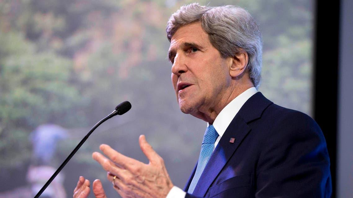 U.S. Secretary of State John Kerry speaks on climate change in Jakarta Feb. 16, 2014. (Reuters)