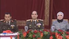 مصر: السیسی کی 'محجب اہلیہ' پہلی مرتبہ فوجی تقریب میں نمودار